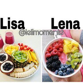 Lisa or Lena? Subject: Fruity Meal My Choice: Lisa
