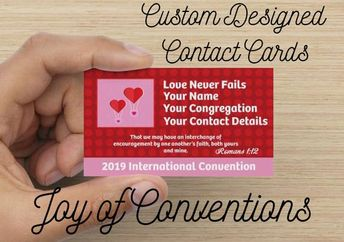 JW Convention Gifts - Custom Designed Contact Cards - Full