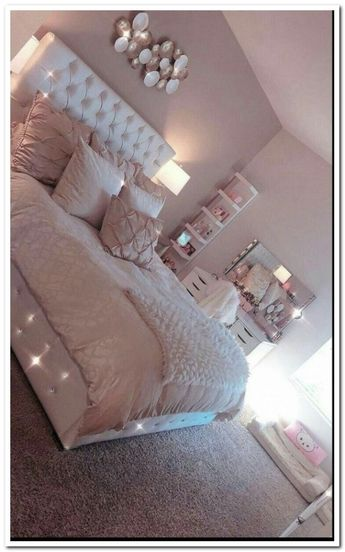 38 cozy home decorating ideas for girls' bedrooms 14
