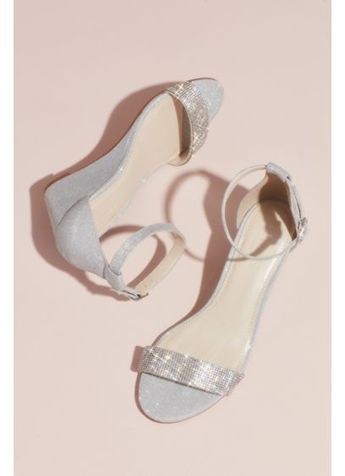 3289ee54e76f Crystal-Topped Wedge Sandals with Ankle Strap Style MARI