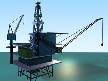 Oil Storage Tank 3d model 3D Studio files free download - m