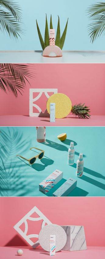 Beauty product photography | Feel Brand & Beauty Package Design