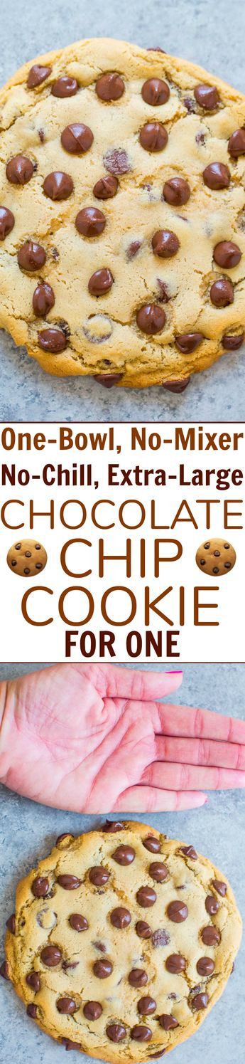 One-Bowl, No-Mixer, No-Chill, Chocolate Chip Cookie For One