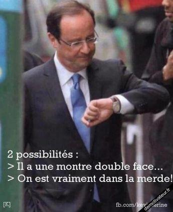 nouveau-President-françois hollande montre ridicule:)
