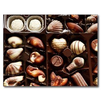 Life is like a box of chocolates sweet dessert postcard | Zazzle.com