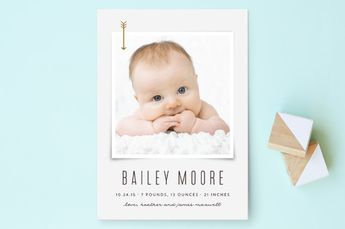 Little Scout Birth Announcements by Rebecca Bowen at minted.com