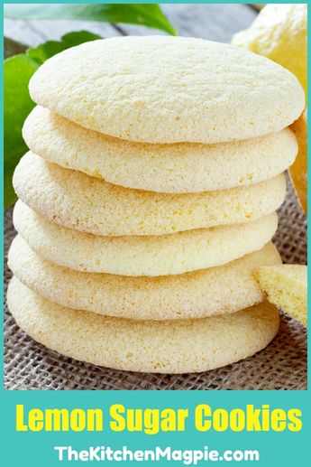Delicious Lemon Sugar Cookies that you can roll out and cut out and decorate with icing if you want! #cookies #lemoncookies #lemon #icing #frosting