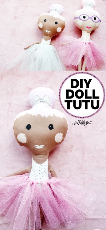It's Tutu time! This craft is super quick and easy – it's a great one to make with your kids! All you need a roll of tulle and some elastic.    See Kate Sew #dollclothes #tutuskirt #diydollclothes #seekatesew