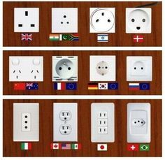 Wall sockets from all over the world