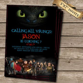 Dragon Birthday Party Invitation