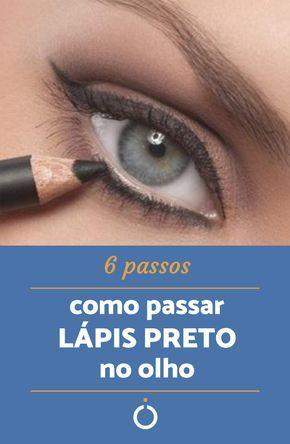 Como passar lápis preto no olho - 6 passos