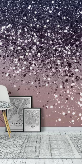 Cali Summer Vibes Glitter 12 Wall Mural / Wallpaper Abstract