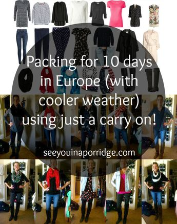 Another Europe packing post - how to over pack while still only using a carry on!