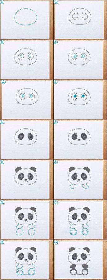 como dibujar un panda