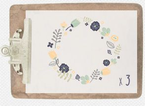 I adore the colour combinations on these. Spring Floral Frames Clipart Pack : Envye, A Design Shop by Wonder Forest