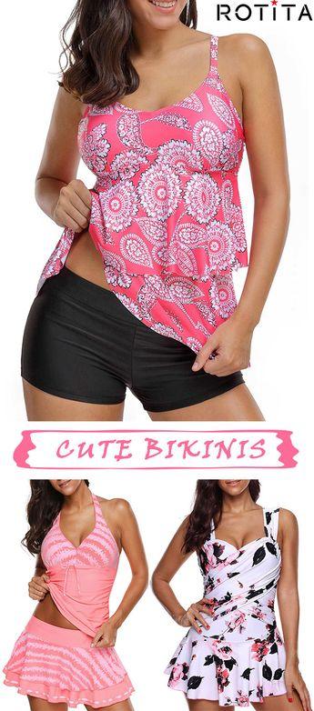 Buy New Swimwear,Shop the Latest Womens Bathing Suits, Swimsuits, & Bikinis Online at rotita.com. FREE SHIPPING WORLDWIDE!#swimwear#pinkswimwear#
