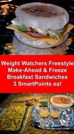 Weight Watchers Freestyle Make-Ahead Breakfast Sandwiches 3 SmartPoints Ea.