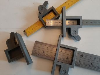Marking Gauge with (Folding) Ruler - Customizable by MrFuzzy_F - Thingiverse