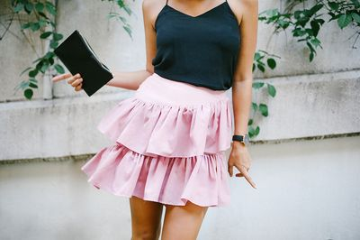 DIY ruffle skirt.