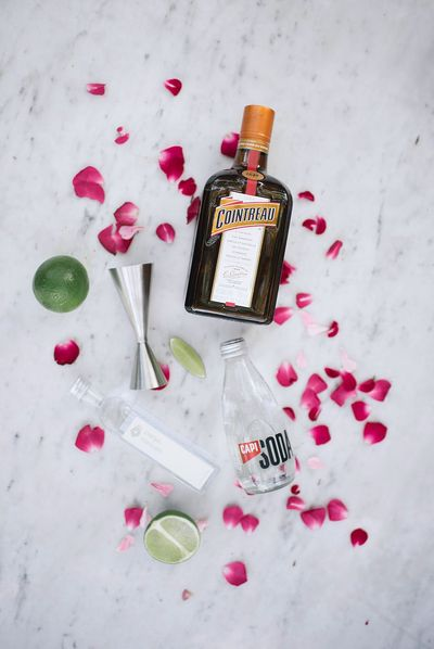 Rose water cointreau