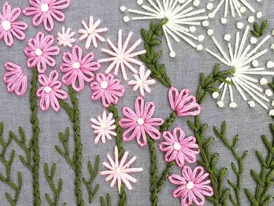 Floss embroidery