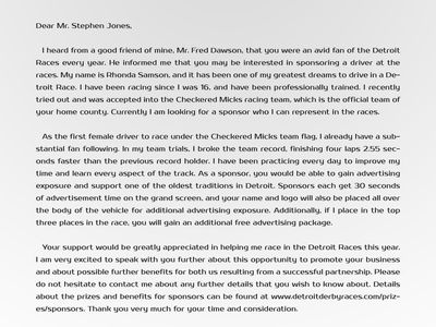 Proposal Letter Samples USA (proposallettersamplesusa) on Pinterest - sponsorship thank you letter sample