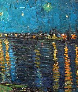 Ohrringe Van Gogh Sternennacht Gemälde Kunst Painting Earrings The Starry Night