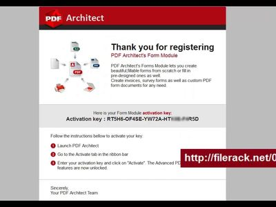 pdf architect activation keygen