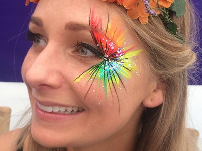 Eye face painting