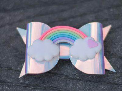 Disney Princess Hair Bows Blue /& Pink Clips Or Bobbles Design #5 - U Choose
