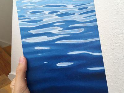 Giclee Print Lake Murray Landscape Art Painting South Carolina SC watercolor