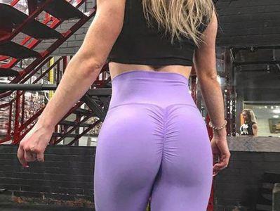 SYAyeah Abstraction Women Workout Yoga Shorts Tight Yoga Pants Tummy Control L White