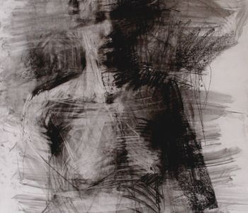 Nudes and Lovers- Encaustic paintings and drawings