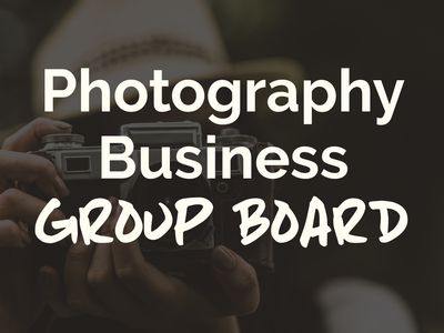 Photography Business Group Board