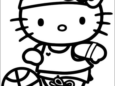 Hello Kitty Coloring Pages On Pinterest