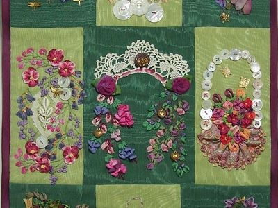 Crazy Quilts, Embroidery, Ribbon Work, Macrame, Lace