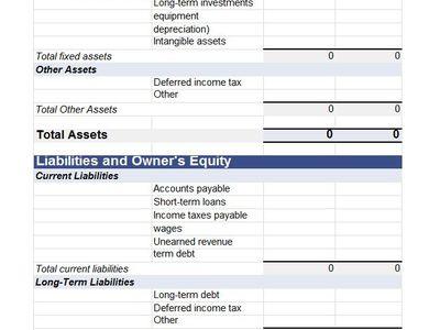 darrell johns (darrell_johns) on Pinterest - income statement and balance sheet template