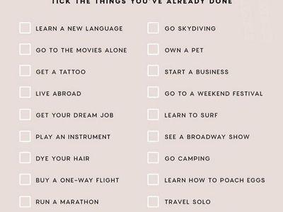 bucket list :)