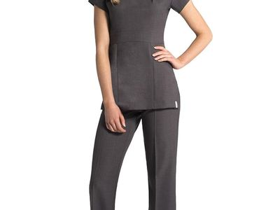 Sharley Nicole Beauty Tunic with Pockets for Massage Therapist Hairdressing Doctor Dentist with Pockets for Beauty Salon SPA