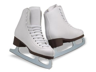 Barbie Shoes Actually  White Ice Skates With Gray//Silvertone Blades