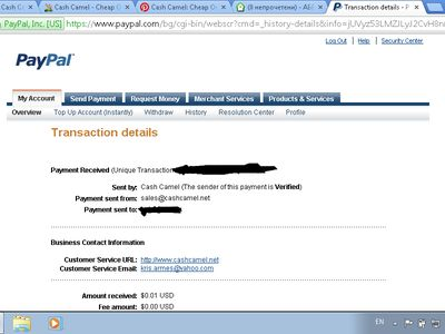Paypal Account Selly