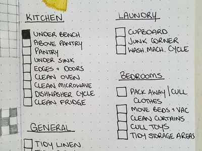 Cleaning tips-lists-hints