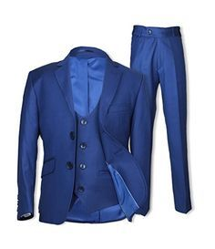 SIRRI Night Blue 3PC Slim Fit Suit Prom Communion Wedding Pageboy Suits