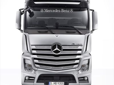 02  various Lorry Emblam Sticker Graphic Mercedes Actros front window