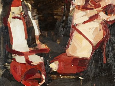 The art of shoes, paintings about dance shoes
