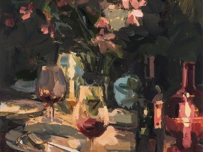 Paintings about the enjoyment of Food, Wine