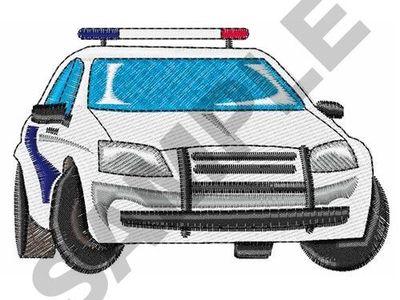Knotenmützen+Beaniemützen  aus Jersey blau mit Polizeiautos
