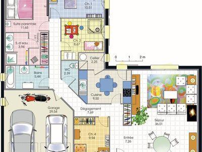 MEGNONSAN KOFFI (megnonsankoffi) on Pinterest - Plan De Maison De 100m2 Plein Pied