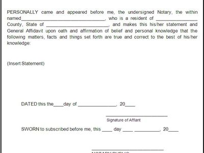 Affidavit Of Facts Template Lee Afpdls On Pinterest