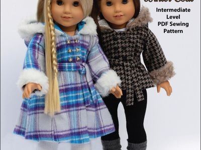 Top /& Pants Set Accessories for 18inch AG American Doll Accs Lovely Plaid Coat